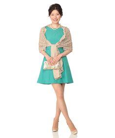 【Dress Stock】 結婚式、パーティー、二次会、にお呼ばれ、ゲストで参加の際のコーデをチェック!ドレス ワンピース ゲスト グリーン ドレスレンタル レンタル およばれ お呼ばれ 謝恩会 参列者 ワンピース ドレス 結婚式