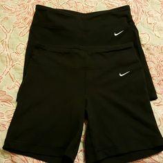 Nike sz small shorts 2 pair of Drifit biker short sz small Nike Shorts