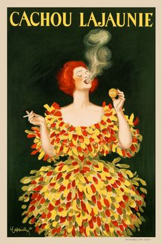This is the Cachou Lajaunie by Leonetto Cappiello Original Vintage Poster. View and purchase this poster online here at Letitia Morris Gallery. Advertising Archives, Vintage Advertising Posters, Vintage Advertisements, Vintage Ads, Vintage Labels, Vintage Signs, Vintage Newspaper, Retro Ads, Vintage Ephemera