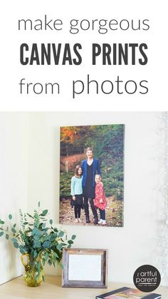 Get Canvas Prints Made of Your Photos - This is a wonderful way to display favorite photos and they also make great gifts!