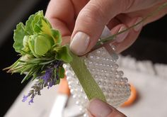 How to make a wrist corsage like a pro wrist corsage bracelet, wristlet cor Wristlet Corsage, Wrist Corsage Bracelet, Wrist Corsage Wedding, Prom Corsage And Boutonniere, Wedding Bouquets, Boutonnieres, Wrist Corsage Diy, Bridesmaid Corsage, Brooch Corsage