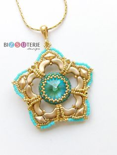 Archisha bead pendant tutorial woth Arcos par Puca beads.