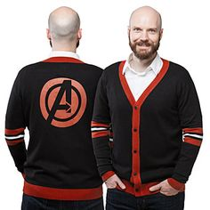 With long sleeves and 5 buttons up the front, this Avengers Unisex Cardigan takes you effortlessly from work to play, depending on what you pair with it. And... we don't have a lot more to say here. It's a sweater. You should buy it.