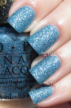 The PolishAholic: OPI Bond Girls Collection Swatches. Apparently stains badly buy miiiiiight just be with it Metallic Nail Polish, Holographic Nail Polish, Nail Polish Colors, Fabulous Nails, Perfect Nails, Gorgeous Nails, Nails Now, Opi Nails, Nail Polishes