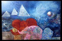 ÁFRICA at nigh- 3500 dólares | Venta de Pinturas al óleo y acuarela de Patty Fernandini