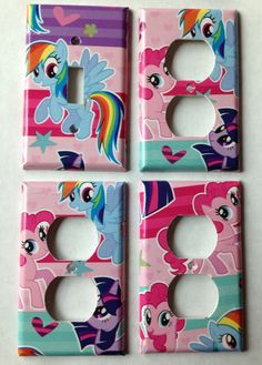 Light Switch And Electrical Outlet Covers. Find This Pin And More On My  Little Pony Bedroom ...