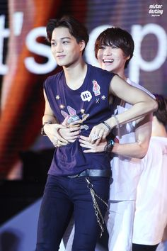 Taemin from Shinee and Kai from EXO