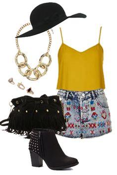 Miss High Street - High Street's Hottest - Aztec shorts