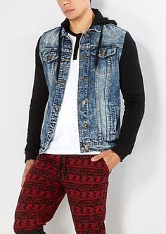 Extreme Wash Hooded Jean Jacket | rue21