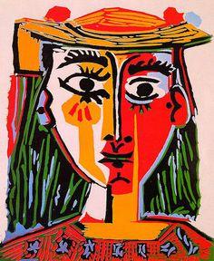 Femme au chapeau (Woman with hat), 1962