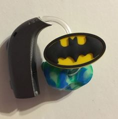 Moni's Blings Batman Logo Single Hearing Aid CI Accessory Charm for Deaf | eBay