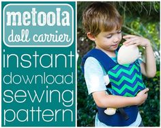 METOOLA DOLL CARRIER PATTERN - INSTANT DOWNLOAD - BY STAR TREE STUDIO