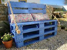 Isabelle Quesnel palette banc bleu