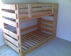 diy loft bed | diy bunk beds | Bunk Beds doesn't show the plans to diy but still pretty awesome