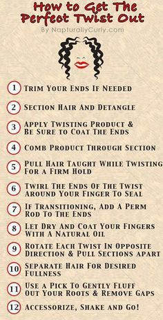 One pinner said: Twist Out Natural Hair - Lord knows i need to know the rules. You can comb or finger detangle hair. Both are options!