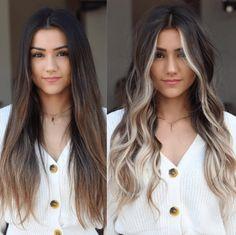 Brown Hair Balayage, Blonde Hair With Highlights, Brown Blonde Hair, Brunette Hair, Balayage Hair Brunette With Blonde, Medium Blonde, Brunette Color, Color Highlights, Medium Hair