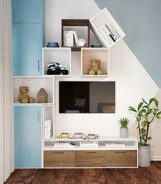 "Apartament 3 camere - Complex ""Nordis"" București - Creativ-Interior Floating Nightstand, Floating Shelves, Interior, Minimalism, Creative, Modern, Table, Furniture, Design"