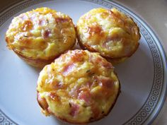 Mommy's Menu: Ham Egg and Cheese Muffins or im trying it this way - Maybe not the best for running, but i could try = canadian bacon, crack an egg white and sprinkle with feta. #sundaybrunch