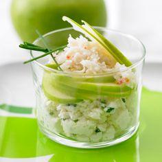 Découvrez la recette Verrine verte et fraîche sur cuisineactuelle.fr.
