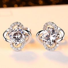 82672e3be4 Wedding Earrings for Women Exquisite Zircon Clover Jewelry Engagement Gifts Wedding  Earrings for Women Exquisite Zircon Clover Jewelry Engagement Gifts