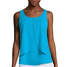 Bisou Bisou® Tiered Draped Top  - JCPenney