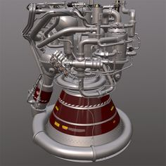 Rocket Engine by zumwolt Highly detailed heavy rocket engine Archive contain formats .mb All materials for v-ray, but also is working in a most renders 3d Design, Logo Design, Rocket Design, Rocket Engine, Space Station, Space Exploration, Spacecraft, Rockets, Designs To Draw