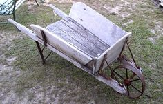 vintage wheelbarrows | Antique_Wooden_Barrow from Clem's Antiques& Collectibles