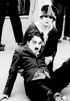 "goldenageestate: ""  Edna Purviance & Charlie Chaplin ~ The Rink, 1916 """