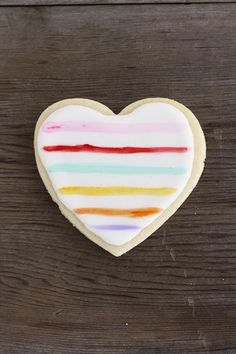 Painted heart cookies for Valentine's Day you can actually make!