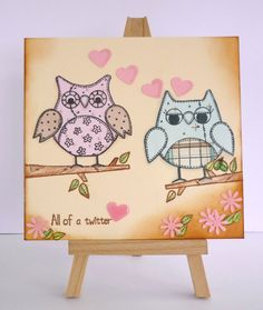 All of a twitter handmade Valentine's Card £4.00