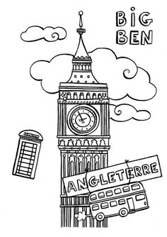 monumentos de europa para niños - Buscar con Google Printable Coloring Pages, Colouring Pages, Adult Coloring Pages, Coloring Books, British Values, Little Passports, Activities For Adults, English Activities, Thinking Day