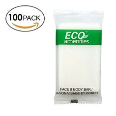 ECO Amenities Spa Sachet Individually Wrapped 1 ounce Cleaning Soap 100 Bars per Case * You can find out more details at the link of the image.