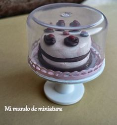 how to make a miniature cake stand (dollhouse desserts)
