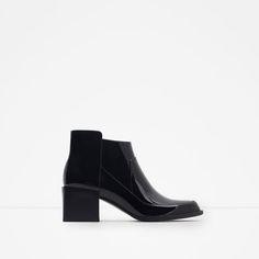 Image 1 of HIGH HEEL PATENT BOOTIES from Zara