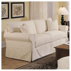 slipcovers sofas shabby chic sofa slipcovers explore and share images Natural Sofas, Shabby Chic Sofa, Sofa Upholstery, Country Style Homes, Cottage Style, Best Sofa, Sofa Set, Slipcovers, Slipcover Sofa