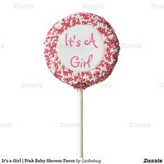 It's a Girl | Pink Baby Shower Favor Chocolate Dipped Oreo Pop