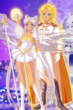 Queen Serenity and King Apollo ~ by Muemui91 ~ created using the Sailor Senshi doll maker | DollDivine.com