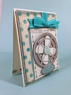 Cricut Cool Fan card with CTMH Seaside