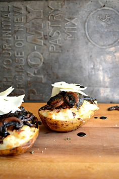 Twice Baked Potatoes with Roasted Mushrooms and Herbs @sarcasticcook