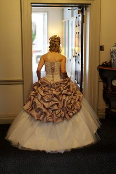 rear of wedding dress photograph