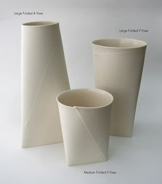 Fifty Percent Off Seconds - Large Folded A Vase