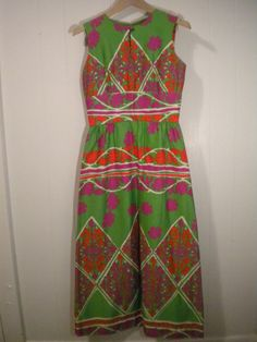SALE Mad Mod Colorful Maxi Dress by Tori by BacktrackVintage, $45.00