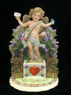 So sweet...Victorian valentine pop up card...