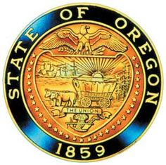 """The state seal of Oregon displays a shield supported by 33 stars (Oregon was the 33rd state to join the Union). The seal is divided by a ribbon with the inscription """"The Union"""" (adopted as Oregon's motto in 1957, but replaced in 1987 with """"She Flies With Her Own Wings"""")."""