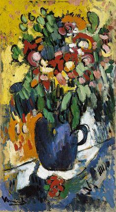 Maurice de Vlaminck, Blue Vase with Flowers, 1906