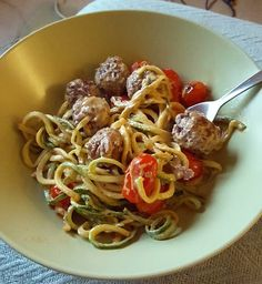 Courgetti and Meatballs