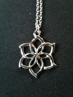 This pendant was inspired by Galadriel's ring, Nenya.
