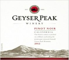 2012 Geyser Peak Pinot Noir, California 750 mL