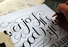 lettering | enjoy the good life