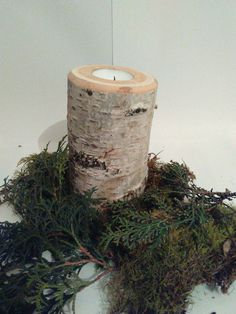 Shop for on Etsy, the place to express your creativity through the buying and selling of handmade and vintage goods. Birch, Centerpieces, Candle Holders, Candles, Unique Jewelry, Awesome, Natural, Wood, Handmade Gifts